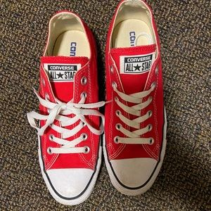 Red Converse size 8